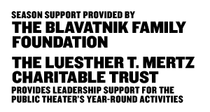 The LuEsther T. Mertz Charitable Trust: Provides leadership support for the Public Theater's year-round activities